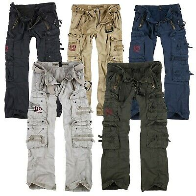 SURPLUS Raw Vintage Royal Traveler Trousers Premium Cargo Pants Hose Airborne