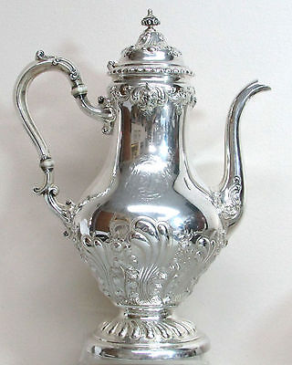 Fabulous 1904 Gorham Sterling Silver Coffee Pot #a731