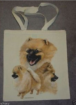 Pomeranian Dogs Design Printed Shopping Tote Bag