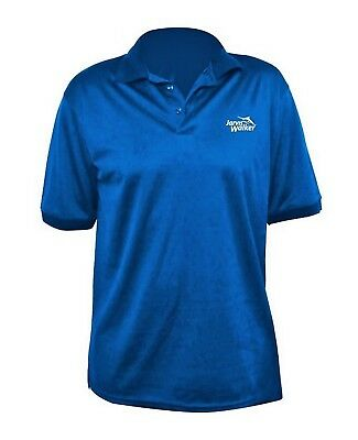 Jarvis Walker Royal Blue Polo Shirt-Breathable Fabric Fishing Shirt with Collar