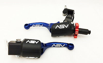 ASV F3 Pro Pack Shorty Blue Unbreakable Brake + Clutch Levers TRX 450R Kickstart