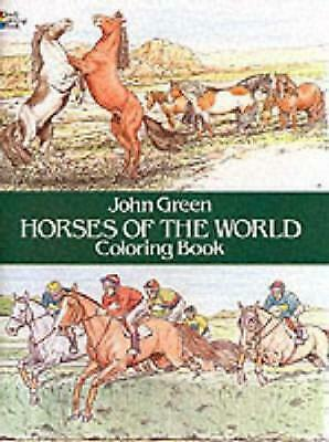 Horses of the World Coloring Book by John Green (English) Paperback Book Free Sh