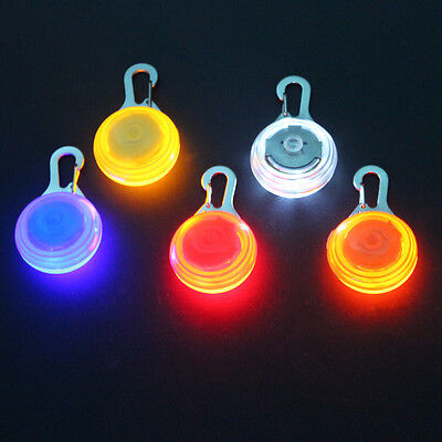 Pet Dog Cat Safety LED Flashing Collar Night Light Pendant With Battery