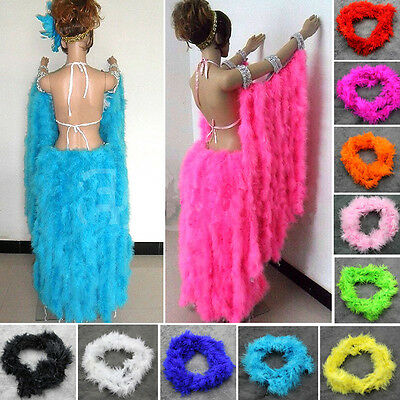 "1X 78"" Boa Burlesque Dress Party Boas Fluffy Craft Costume Wedding Feather Decor"