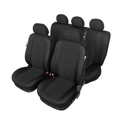 Washable Black Car Seat Covers - Opel ASTRA G Hatchback 1998 to 2004 - Premium