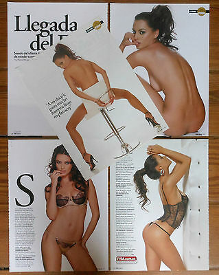 CATRINEL MENGHIA 8 page 2008 article sexy nude photos Romanian model clippings