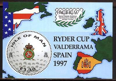 103202/ Isle of Man 1997 - Bl. 29 - Ryder Cup - **