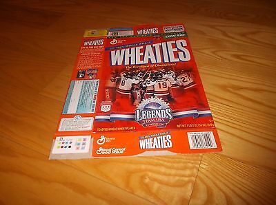 General Mills Team USA Gold Medal 1980 Men's Hockey Team Wheaties Cereal Box B