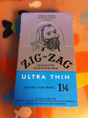 Zig Zag Ultra Thin 1 1/4 (1.25) Rolling Cigarette Papers 24 Packs