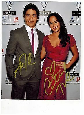 COURTNEY REED--JASMINE-and--ALADDIN ON BROADWAY Signed Photo 8x10--#2 2015 PROOF