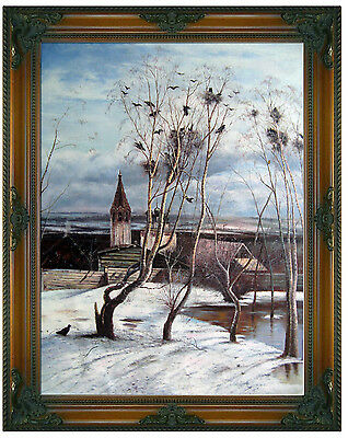 Alexei Savrasov The Rooks Have Come Oil Painting repro