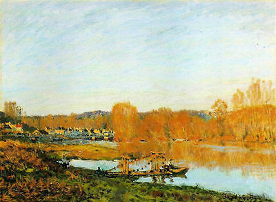 Alfred Sisley Autumn: Banks of the Seine Oil Painting repro