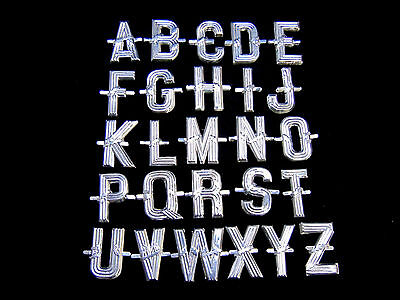 Aluminium Silver Letters for Funeral Tributes Spell any Name Message or Word