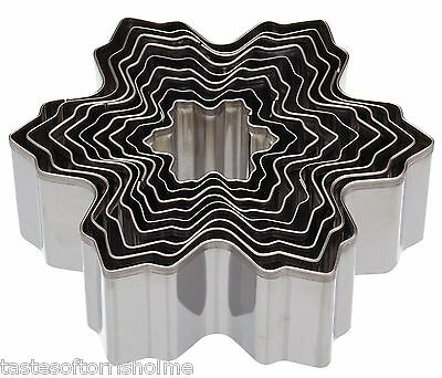 Kitchen Craft Set of 9 Stacking Christmas Snowflake Tree Biscuit Cookie Cutters