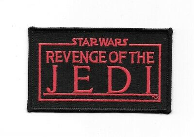 Star Wars Revenge of the Jedi Movie Name Logo Embroidered Patch, NEW UNUSED