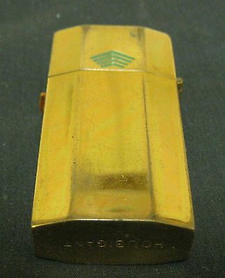 Collectible Gold Tone Houbigant Metal Container