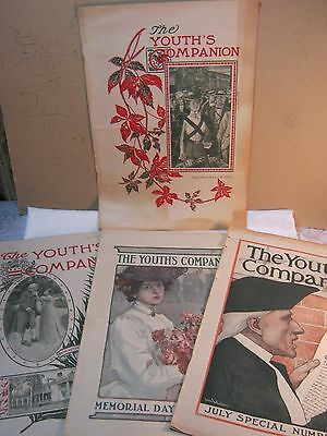 Early 1900'S & Late 1800'S The Youth's Companion Magazine Lot Antique      T*