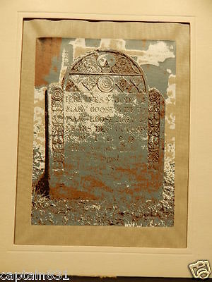 1969 Mother Goose Mary Tombstone MA  Silk Screen Print David Kelley w/ letter