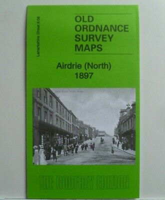 Old Ordnance Survey Map Airdrie (North) Lanarkshire Scotland 1897 Sheet 8.06 New
