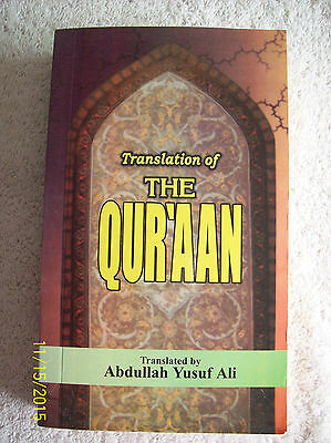 Translation of The Qur'aan (Qur'an)by Abdullah Yusuf Ali-1998,Paperback,Pakistan