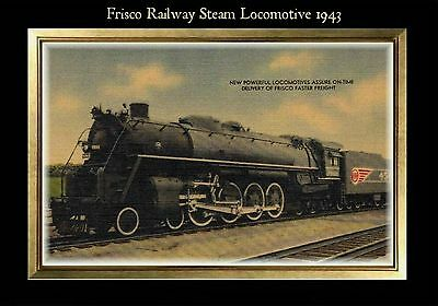 TRAIN Post Card PHOTO MAGNET The 400 Steam Powered Locomotive Chicago /& NW Line
