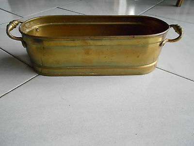 Vintage FRENCH gilded  Brass POT PLANTER JARDINIERE