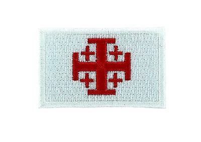 Flag patch patches templar knights jerusalem shield tactical indifdel crusader r