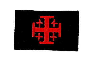 Flag patch patches templar knights jerusalem cross tactical indifdel crusader bl