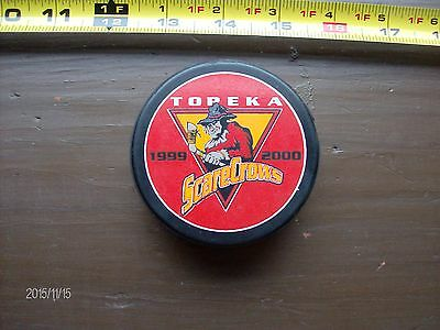 Topeka Scare Crows Chl Puck 1999 - 2000