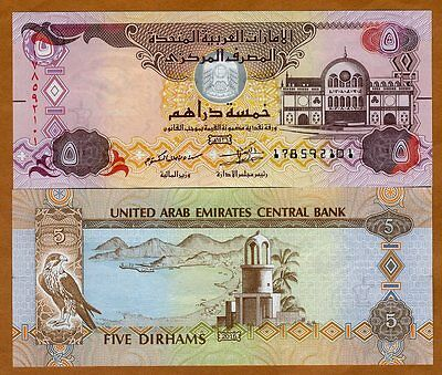 United Arab Emirates, 5 Dirhams, 2015, P-New, UNC   Braille