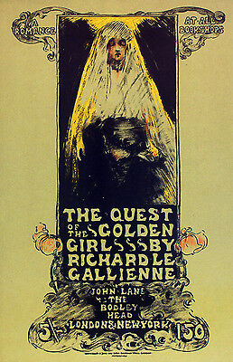 2151 The quest of the Golden Art Deco POSTER.Graphics to decorate home office.