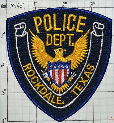 Texas, Rockdale Police Dept Patch