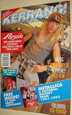 Kerrang # 416 Alice In Chains Girlschool King Diamond Red Hot Chili Peppers