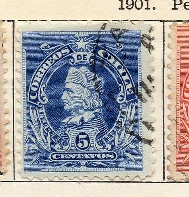 Chile 1901 Early Issue Fine Used 5c. 033544
