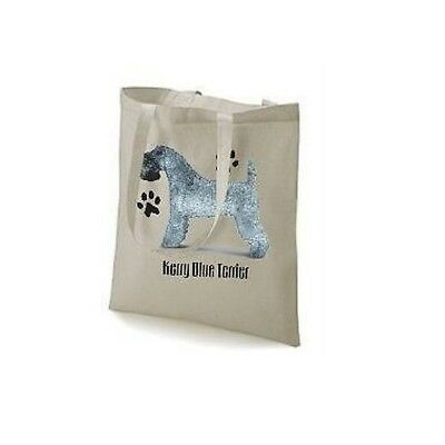 Kerry Blue Paws Design Printed Tote Shopping Bag 100% Cotton Long Handels
