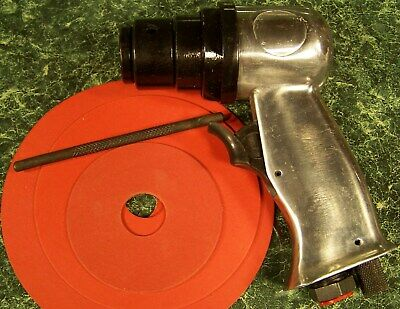 """5"""" High Speed AIR SANDER TOOL with 3 discs and Built in Regulator H.S. new sand"""