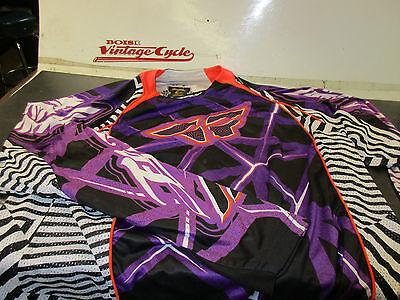 Fly Racing Evolution Motocross Jersey Size Xl Black And Purple