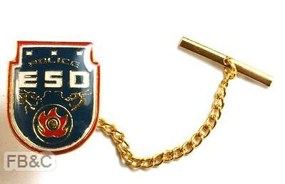 Police ESD Lapel Pin Badge with chain - Mackenzie-Orr Collection IABTI