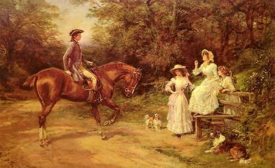 Hardy oil Painting repro A Meeting By The Stile
