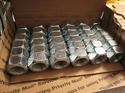 """[LOT OF 36]  Heavy Hex Nut  Nuts  7/8""""-9-UNC Zinc plated  6-1/2 pounds"""