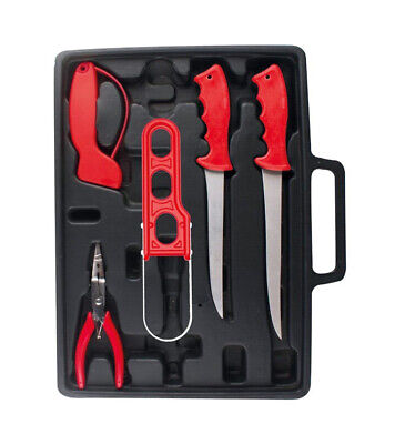 Jarvis Walker Deluxe Filleting Tool Kit-2 x Knives,Scaler,Pliers and Sharpener