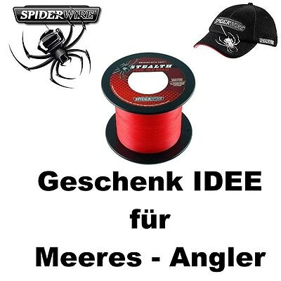 400m 25er SPIDERWIRE Code Red + Basecap