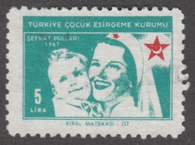 Turkey Child Protection Society Charity Stamp McDonald #44 used 5L 1967 cv $15