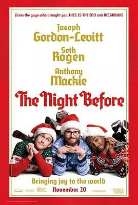 "NIGHT BEFORE - 2015 - original 27x40 Advance ""B"" Movie Poster - SETH ROGEN"