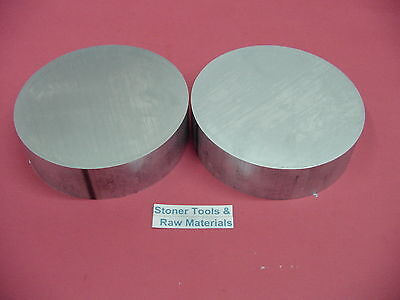 "2 Pieces 4"" ALUMINUM 6061 ROUND BAR ROD .75"" LONG 4.00""OD New Lathe Solid Stock"