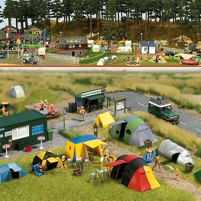 Busch 6044 Campground Scene Plastic Kit - HO/OO Gauge  New - Tracked 48 Post