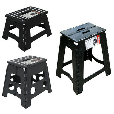 Plastic Folding Step Up Stools Collapsible Foldaway Large Heavy Duty Steps NEW