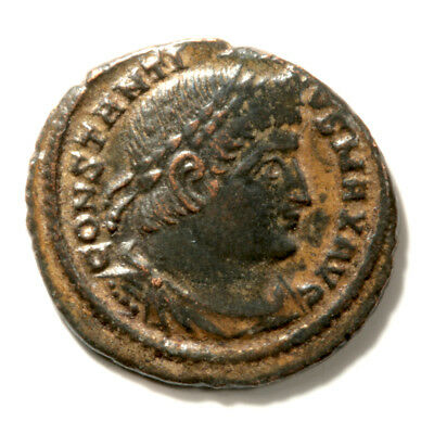 Wonderfully Sharp Bronze Follis of Emperor Constantine I (The Great) with COA.