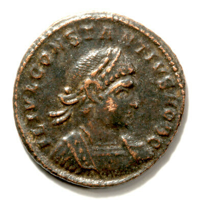 Wonderfully Sharp Emperor Constantine II Bronze Follis with COA.