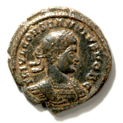 Bronze Follis of Emperor Constantine II with COA - Wonderfully Sharp.